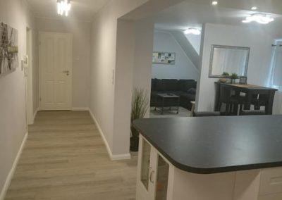 Kücke Flur und Wohnzimmer