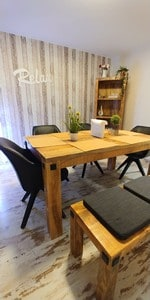 dining room bench table chairs 2